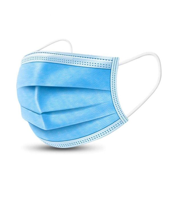 Disposable 3ply Ear Loop Face Mask Blue