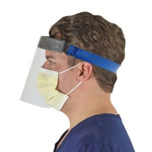 Face Shield with PET Visor with Elastic